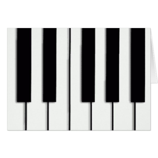 Piano Keys Christmas Card
