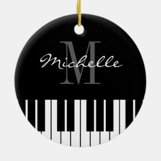 Piano keys Christmas tree ornament for pianist