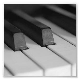 Piano Keys Closeup Photo Art