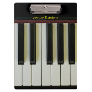 Piano Keys Customizable Name Clipboard