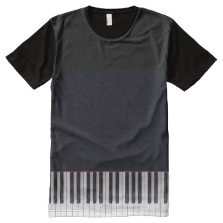 Piano Keys Design by Leslie Harlow All-Over Print T-Shirt