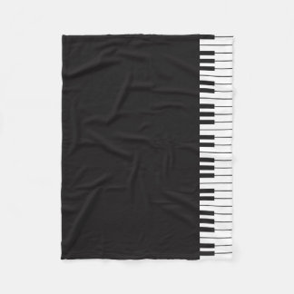 Piano Keys Fleece Blanket