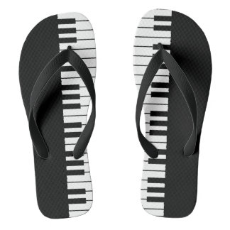 Piano Keys Flip Flops