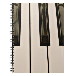 piano keys HDR vintage look electric keyboard Spiral Note Books