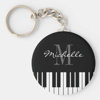 Piano keys keychain for kids, pianist or teacher