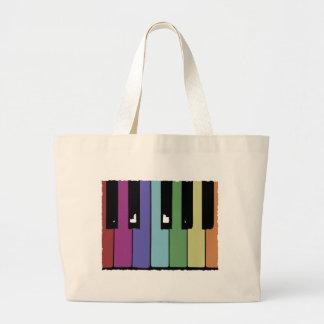Piano Keys Large Tote Bag