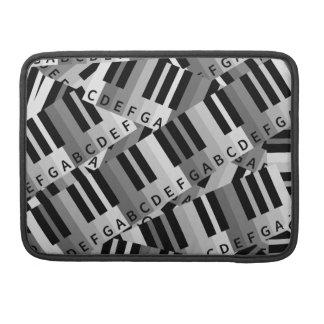 Piano Keys Layered Pattern MacBook Pro Sleeves