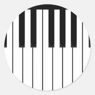 piano keys long.pdf round sticker