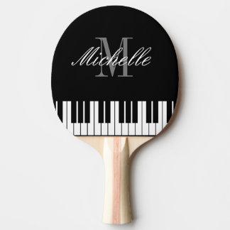 Piano keys monogram table tennis ping pong paddle