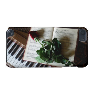 Piano Keys, Music Book and Rose iPod Touch (5th Generation) Case