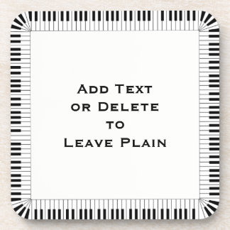 Piano Keys Music Border /Optional Words / Set of 6 Coaster