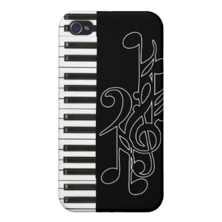 Piano Keys Music Notes Case for Apple iPhone 4 iPhone 4/4S Cover