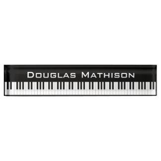 Piano Keys Nameplate