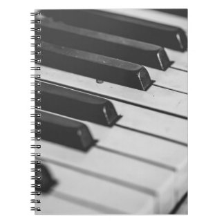 Piano keys notebook