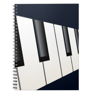 Piano Keys Perspective Note Books