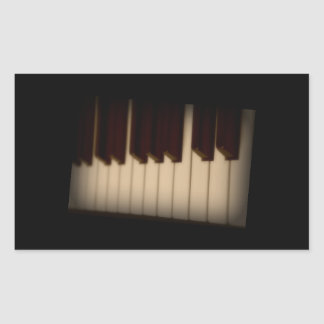 Piano Keys Rectangle Sticker