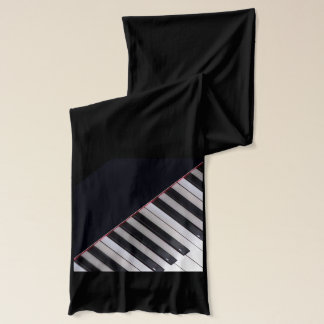 Piano Keys Scarf by Leslie Harlow