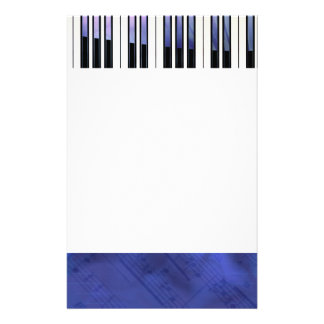 Piano Keys Sheet Music Modern Twist Stationery Design