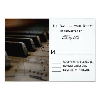 Piano Keys Sheet Music Wedding RSVP Cards 9 Cm X 13 Cm Invitation Card