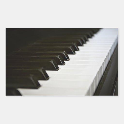 Piano Keys stickers (rectangle)