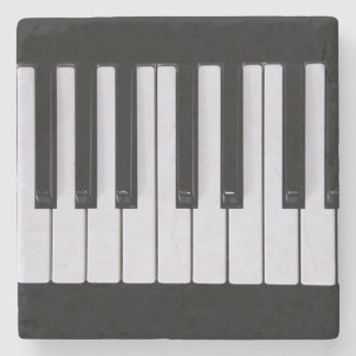 Piano Keys Stone Coaster