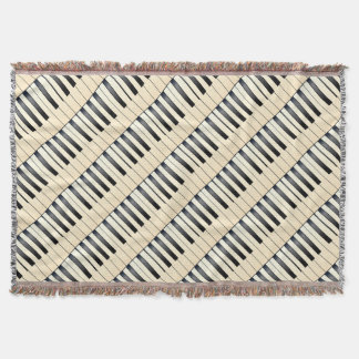 Piano Keys Throw Blanket