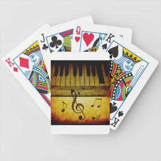 Piano Keys Vintage Bicycle Playing Cards
