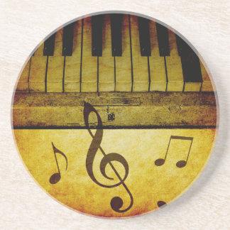 Piano Keys Vintage Coaster