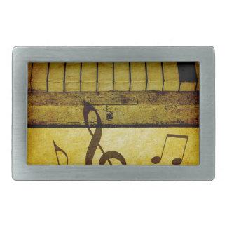Piano Keys Vintage Rectangular Belt Buckles