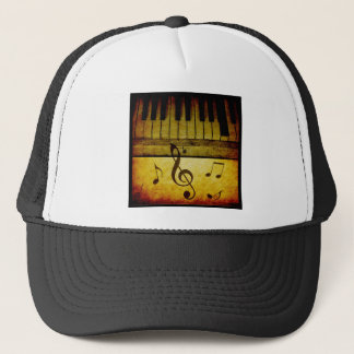 Piano Keys Vintage Trucker Hat