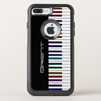 Piano Keys With Dark Rainbow Highlights Music OtterBox Commuter iPhone 8 Plus/7 Plus Case