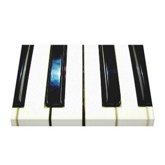 Piano Keys Wrapped Canvas