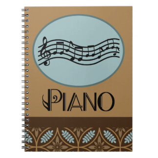 Piano Lesson Practice Journal Note Book