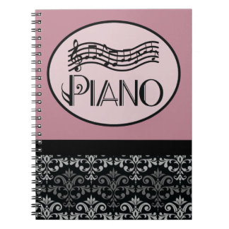 Piano Lesson Practice Notes Spiral Note Book