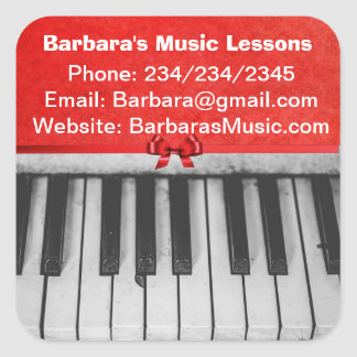 Piano Lessons Promotional Stickers