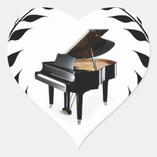 piano man black limb heart sticker