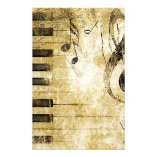 Piano Music Notes Customised Stationery