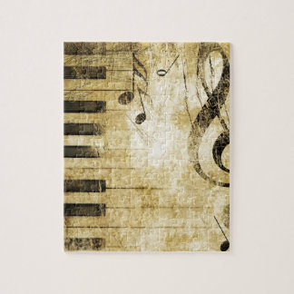 Piano Music Notes Jigsaw Puzzle
