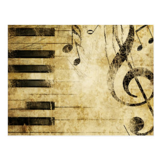 Piano Music Notes Postcard