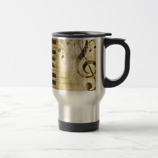 Piano Music Notes Travel Mug