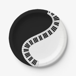 Piano Music Paper Plate