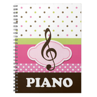 Piano Music Practice Notebook Journal