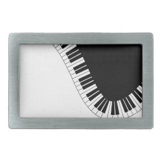 PIANO MUSIC RECTANGULAR BELT BUCKLES