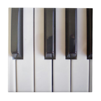 Piano Music Small Square Tile