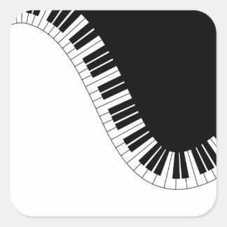PIANO MUSIC SQUARE STICKER