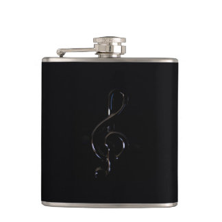 Piano Musical symbol Hip Flask