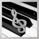 Piano musical symbol print