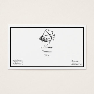 Piano Musician Business Card