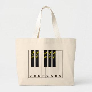 Piano Notes Canvas Bag