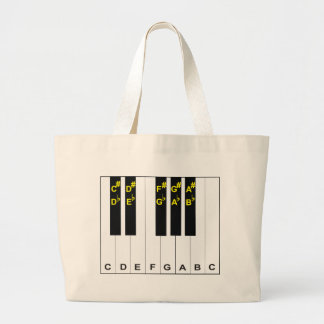 Piano Notes Jumbo Tote Bag